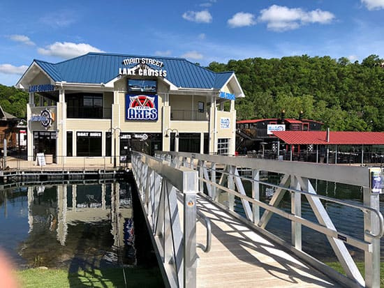 Laing Axes is Located in Main Street Marina at the Branson Landing